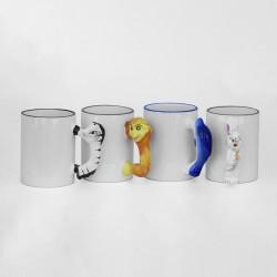 Sublimacijska šalica, ručka u obliku životinje |SM-1D