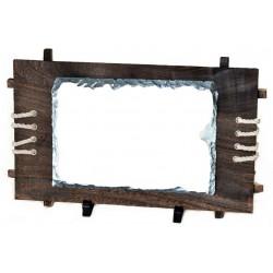 Kamena foto ploča na drvenom okviru 30*28 cm | SH40